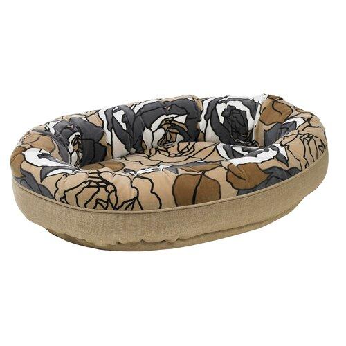 Diam Microvelvet Orbit Donut Dog Bed