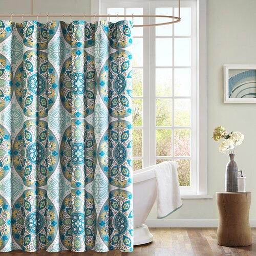 Santorini Microfiber Shower Curtain