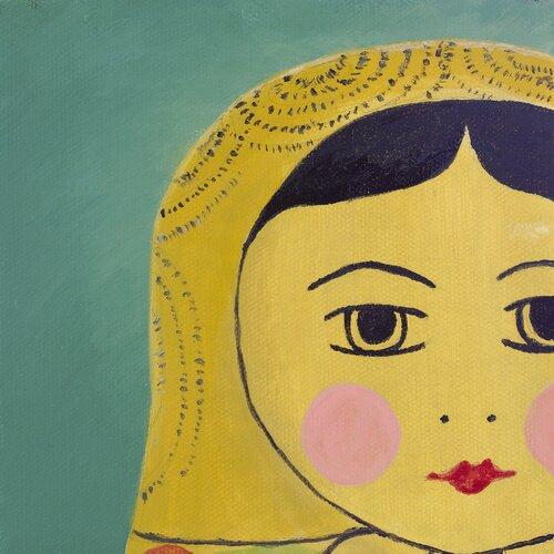 emma at home by Emma Gardner Matryoshka Tiny Face Giclee Painting Print on Canvas