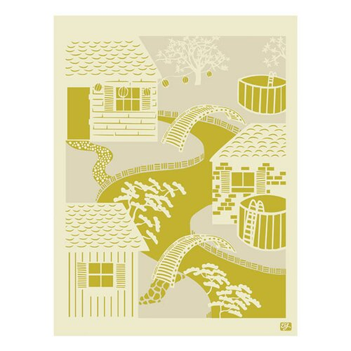 Japanese River Graphic Art