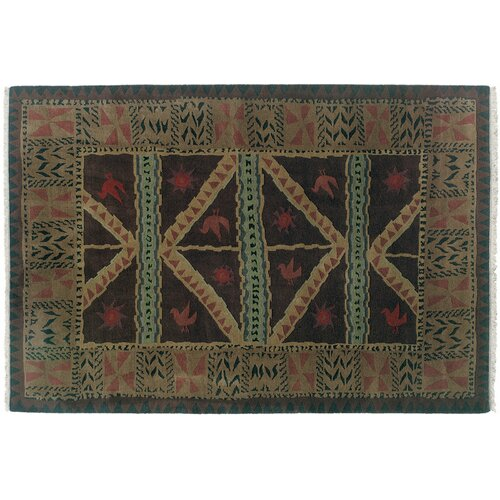 Wildon Home ® Sundial Chocolate Tribal Rug