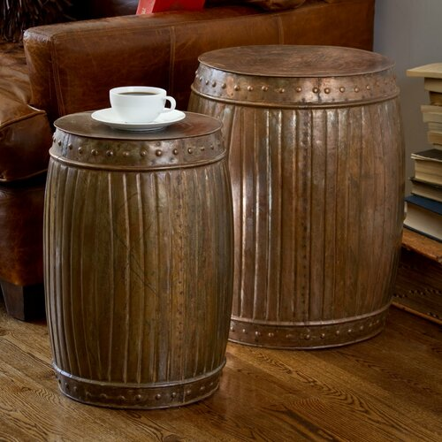 Wildon Home ® Fluted End Table (Set of 2)