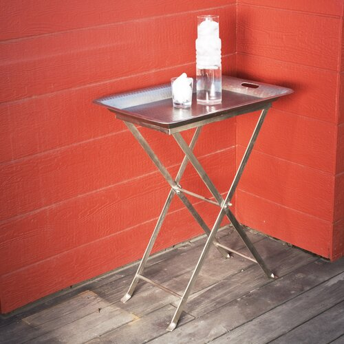 Wildon Home ® Antique Butterfly Cocktail Tray Table