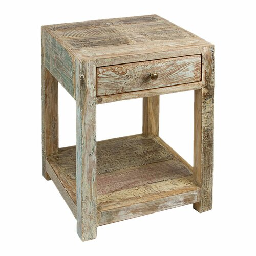 Wildon Home ® Stripped Teak End Table