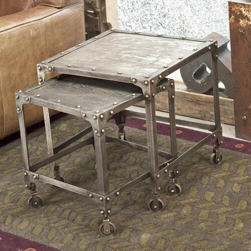 Wildon Home ® Industrial 2 Piece Nesting Tables