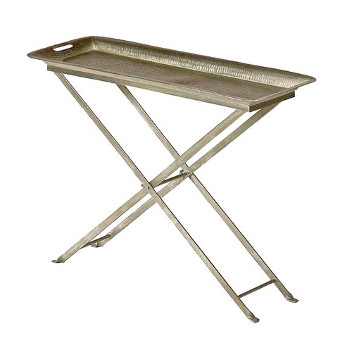 Wildon Home ® Antique Butterfly Tray Table