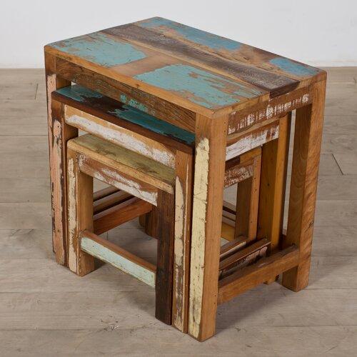 Wildon Home ® Halebid Stripped 3 Piece Nesting Table