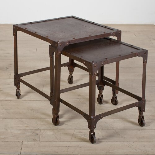 Wildon Home ® Iron 2 Piece Nesting Table