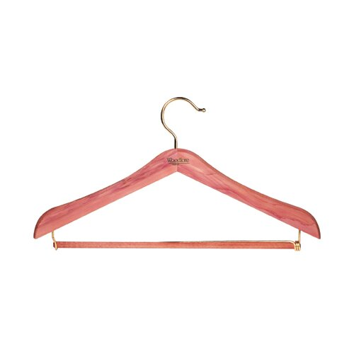 Standard Hanger with Locking Pant Bar in Natural Cedar Finish (Set of 4)