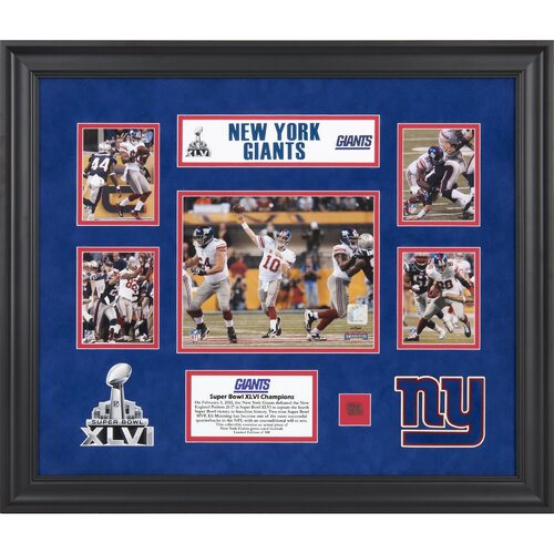 Mounted Memories NFL New York Giants Super Bowl XLVI Champions 5-Photo Collage Framed Memorabilia