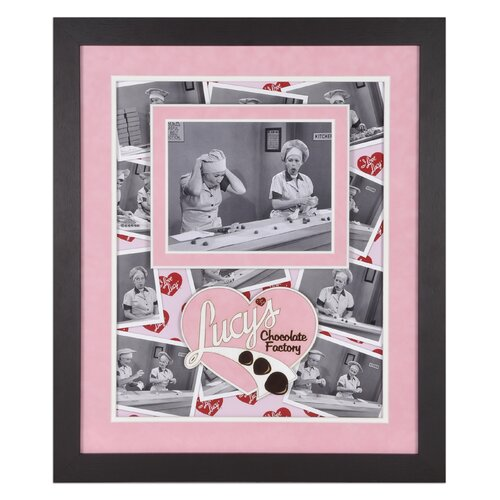 Mounted Memories I Love Lucy 'Chocolate Factory' Framed Memorabilia