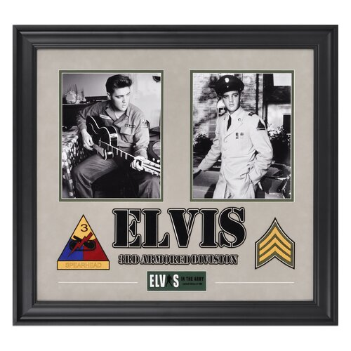 Elvis Presley 'Army Years' Framed Memorabilia