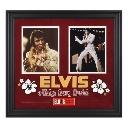 Mounted Memories Elvis Presley 'Aloha From Hawaii' Framed Memorabilia