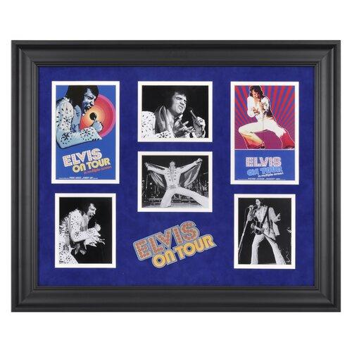 Mounted Memories Elvis Presley 'Elvis On Tour' Limited Edition Framed Memorabilia