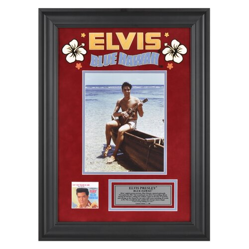 Mounted Memories Elvis Presley 'Blue Hawaii' Framed Memorabilia