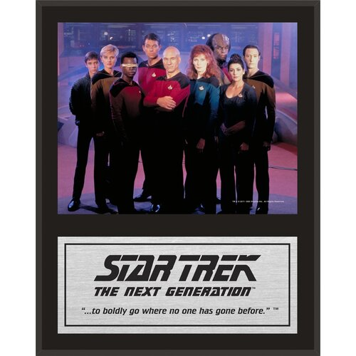 Mounted Memories Star Trek: The Next Generation Sublimated Memorabilia Plaque