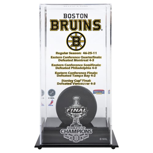 Mounted Memories 2010 Stanley Cup Championship Logo Puck Display Case