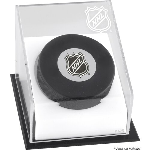 NHL Hockey Puck Logo Display Case