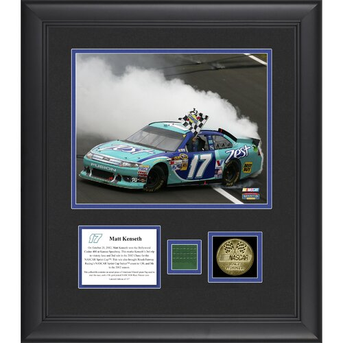 Mounted Memories NASCAR Matt Kenseth 2012 Hollywood Casino 400 Framed Photo