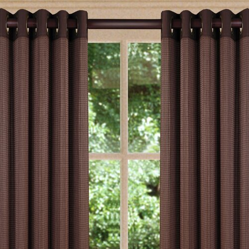 ... Home Fashions Indoor/Outdoor Bamboo Ring Top Single Curtain Panel