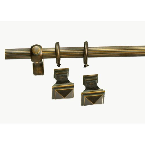 Versailles Home Fashions Madison Square Curtain Rod and Hardware Set
