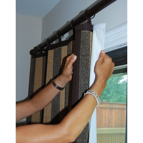 Versailles Home Fashions Insulated Light Filtering Curtain Single Liner