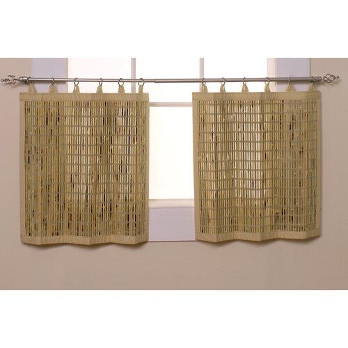 Versailles Home Fashions Bamboo Ring Top Tier Curtain