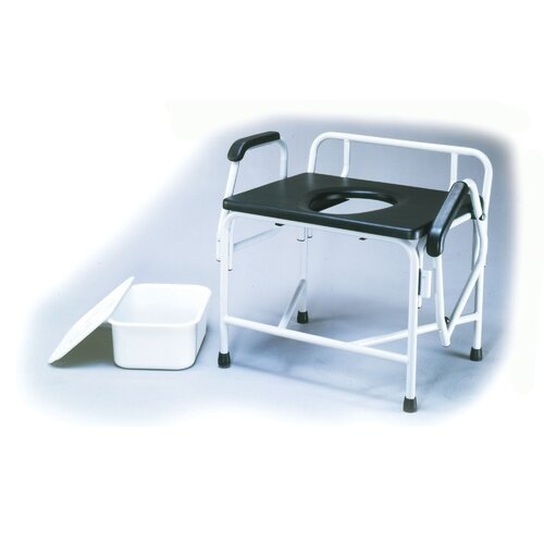 ConvaQuip Bariatric Bedside Commode with Drop Arm