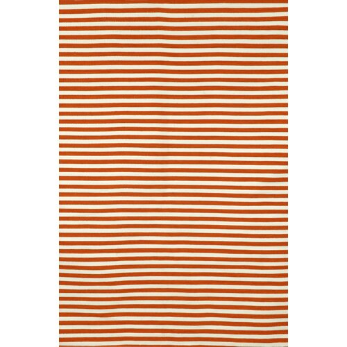 Sorrento Mini Stripe Paprika Indoor/Outdoor Rug