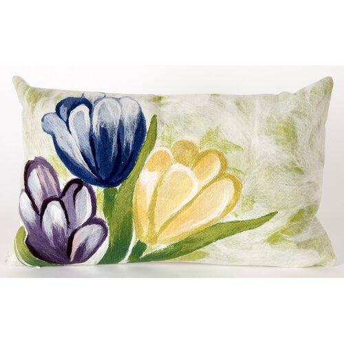 Liora Manne Tulips Rectangle Indoor/Outdoor Pillow