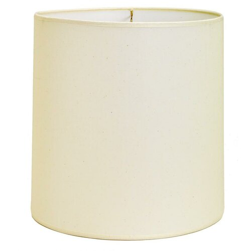 "Deran Lamp Shades 14"" Hard Back Linen Drum Shade"