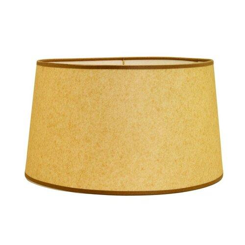 "Deran Lamp Shades 16"" Hard Back Linen Shallow Empire Shade"