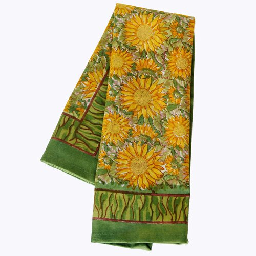 Sunflower Yellow Green Tea Towel (Set of 3)