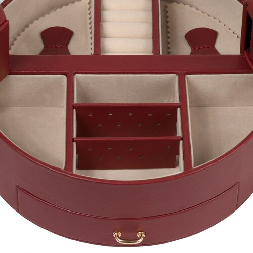 WOLF Heritage Chelsea Large Ying Yang Jewelry Case in Scarlet