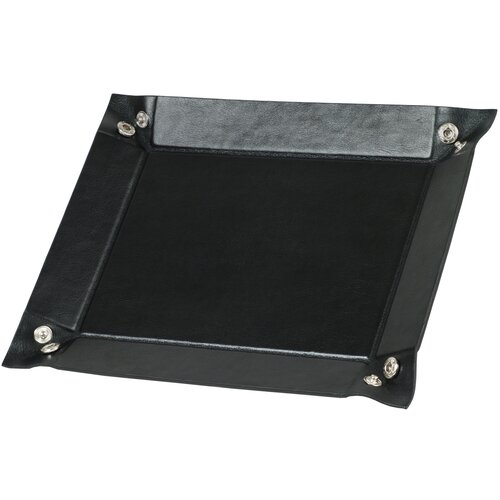 WOLF Heritage Men's Accessories Snap Coin Tray in Black