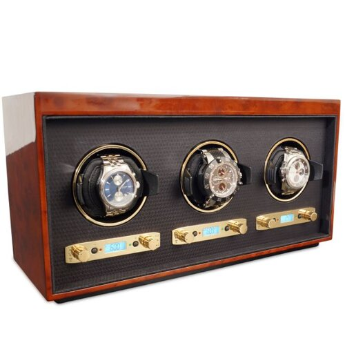WOLF Meridian Triple Watch Box
