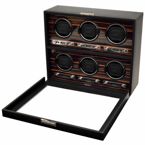 WOLF Roadster 6 Module Winder Watch Box
