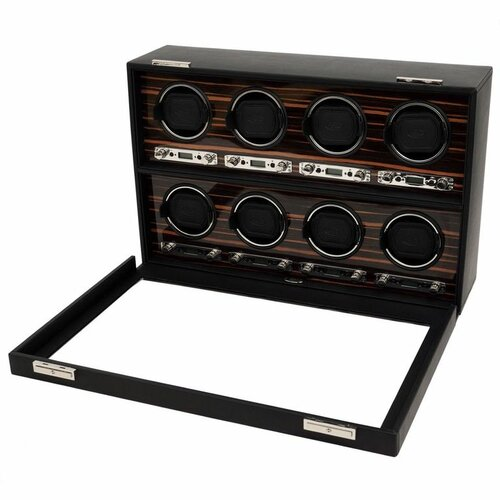 WOLF Roadster 8 Module Winder Watch Box