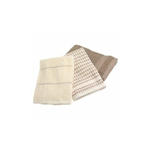 Bardwil Tablecloths Bardwil Popcorn Kitchen Towel in Taupe
