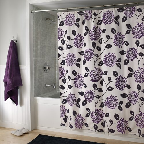 m.style Fabulous Microfiber Shower Curtain