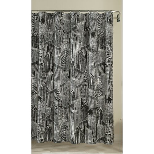 m.style NYC Cotton Shower Curtain