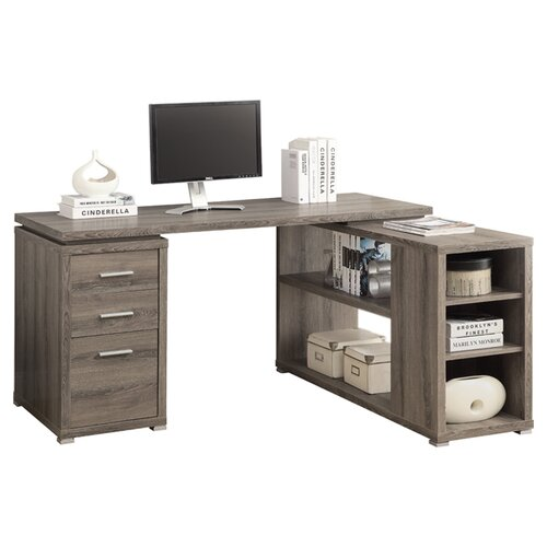 Specialties Inc Corner L Shaped Writing Desk Reviews Wayfair