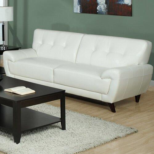 White bonded leather sofa wayfair for White sectional sofa wayfair