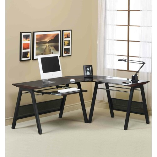 "Monarch Specialties Inc. 133"" W x 30"" D Computer Table"