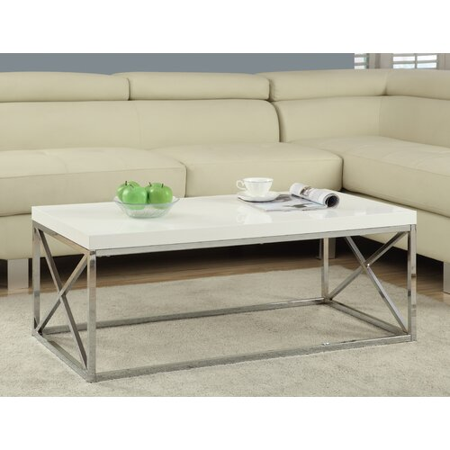 Romy Square Metal Coffee Table Am Pm: Monarch Specialties Inc. Monarch Coffee Table & Reviews