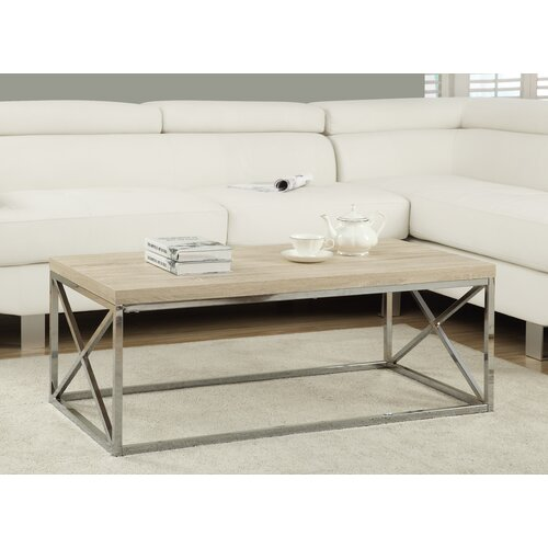 Lexington Chunky Chrome Coffee Table: Monarch Specialties Inc. Tremont Coffee Table & Reviews