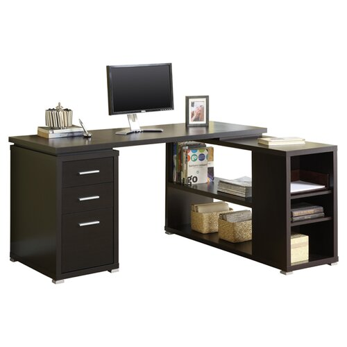 Monarch Specialties Inc. Hollow-Core L-Shaped Computer Desk