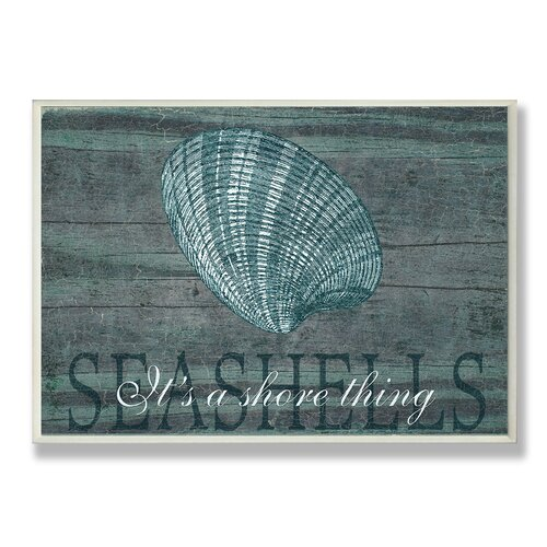 Home Décor Seashells It's a Shore Thing Graphic Art Plaque
