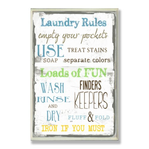 Home Décor Laundry Room Typography Rectangle Textual Art Plaque