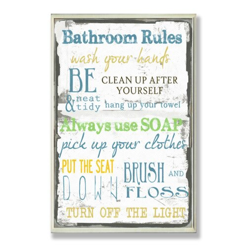 Home Décor Bathroom Typography Rectangle Textual Art Plaque